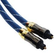 弗吉凯柏(cabos) F007105  发烧光纤线音频线音响功放连接线数字方对方光钎线 5米 蓝色