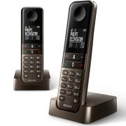 飞利浦 DCTG450 DUO 数字无绳电话机套装 中文菜单/中文显示/免提通话/家用办公电话机