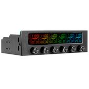 Thermaltake  Commander F6 RGB LCD风扇控制器 (RGB 16色屏/调速/监控温度/显示温度转速电压)