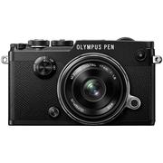 奥林巴斯 PEN-F-1718K(定焦镜头套装) 黑色 2000万像素 内置WIFI 五轴防抖 翻转触屏 经典复古