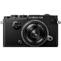 奥林巴斯 PEN-F-1718K(定焦镜头套装) 黑色 2000万像素 内置WIFI 五轴防抖 翻转触屏 经典复古产品图片主图