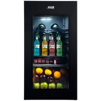 美菱 JC-108BZMS 冰吧 酒柜 家用 商用 客厅厨房 加温除霜(典雅黑)产品图片主图