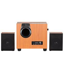 金正 SH508 迷你音响 音响 2.0声道 电脑音箱 组合音响(木色)产品图片主图