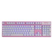 凯酷 104 RGB plus 粉色 混光 机械键盘 游戏背光键盘 茶轴