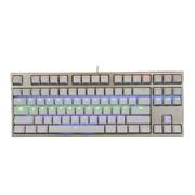 凯酷 87 LED 荣耀2代 香槟金 混光背光机械键盘 游戏键盘 黑轴