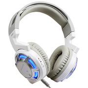 硕美科 G926 毒蜂 头戴式 游戏耳机 免驱动 HiFi级电脑耳麦 定位准确 白色