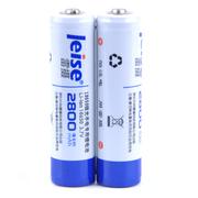 雷摄 18650锂电充电电池2800mAh 3.7V 2节装 带保护板防过充过放保护 适用:强光手电筒、 头灯、航模