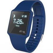 hicling Cling Bio智能运动手表(微信互联+实时心率+体温+铝合金机身+触控屏幕+智能提醒+防水)深海军蓝