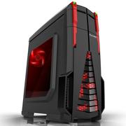 长城 星际战舰 M-10 游戏电脑机箱黑色 (水冷/独立风道/分体式/侧透/背线/SSD/顶置USB3.0)