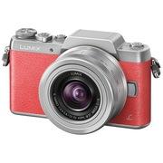 松下 Lumix DMC-GF8 微型单电单镜套机 粉红色 手动变焦版 美颜自拍利器(12-32mm DMC-GF8KGK-P)