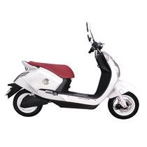 雅迪 电动车 豪华款电动车电动摩托车男女款电摩电动车 钻石 皎月白(无尾箱)产品图片主图