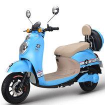 雅迪 电动车 MK-米迪60哑光珍珠天蓝/亚光黑(前碟后鼓)产品图片主图