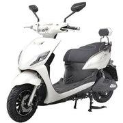 新日 电动车 怪兽 电动车自行车 电动车摩托车 60V电池 电瓶车 皎月白