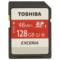 东芝 128G SDXC存储卡Class10-48MB/s高速升级 红色产品图片1