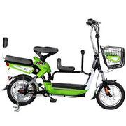 台铃 2016新款小慈铃二代电动自行车 48V锂电池电单车 14寸助力车 带小孩亲子车子母车 苹果绿