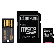 金士顿 128GB 80MB/s TF(Micro SD)Class10 UHS-I高速存储卡 移动套件