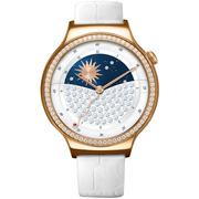 华为 WATCH 星月系列 智能手表(施华洛世奇人造宝石 白色鳄鱼纹牛皮表带)玫瑰金