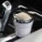 趣行 汽车自驾杂物盒 安全阻燃烟灰缸 车载LED带灯汽车烟缸 白色产品图片4