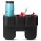 趣行 汽车座椅缝隙置物盒 车载多功能双位水杯饮料置物架 车用内饰收纳手机杂物盒产品图片1