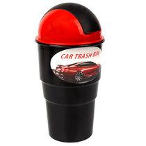 趣行 汽车翻盖可乐罐型垃圾桶 车用杯架内垃圾盒杂物收纳盒 红色产品图片主图