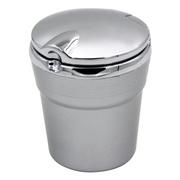 趣行 汽车自驾杂物盒 安全阻燃烟灰缸 车载LED带灯汽车烟缸 银色