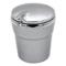 趣行 汽车自驾杂物盒 安全阻燃烟灰缸 车载LED带灯汽车烟缸 银色产品图片1