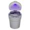 趣行 汽车自驾杂物盒 安全阻燃烟灰缸 车载LED带灯汽车烟缸 银色产品图片2