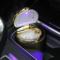 趣行 汽车自驾杂物盒 安全阻燃烟灰缸 车载LED带灯汽车烟缸 金色产品图片4