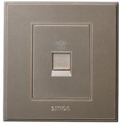 Simon V55214-02 西蒙开关插座面板56系列(亮香槟)一位电话插座