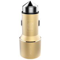 RND 车载充电器 点烟器一拖二 双USB车充 C01香槟金产品图片主图