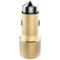 RND 车载充电器 点烟器一拖二 双USB车充 C01香槟金产品图片1