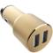 RND 车载充电器 点烟器一拖二 双USB车充 C01香槟金产品图片4