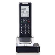 摩托罗拉 IT.6.1XC 赠配可自由更换的不同颜色子机背壳 薄款 锂电池 数字无绳电话机 单机 黑色