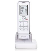 摩托罗拉 IT.6.1XC 赠配可自由更换的不同颜色子机背壳 薄款 锂电池 数字无绳电话机 单机 白色