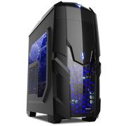 航嘉 暗夜猎手2/黑  中塔游戏电脑机箱(U3/侧透/长显卡/下置电源)