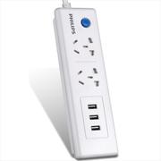 飞利浦 智能3口(5V2.4A)USB+2位1.6米插座 插排插线板/接线板/拖线板