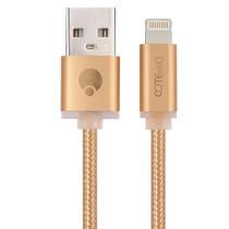 哥特斯 M10 Lightning数据线 手机充电线 2米 金色 适用于苹果iPhone5/6s/Plus iPad Air Pro M产品图片主图