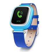 小天才 电话手表Y01 皮革蓝色 儿童智能手表360度防护 学生小孩智能定位通话手环手机