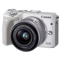 佳能 EOS M3(EF-M 15-45mm f/3.5-6.3 IS STM) 微型单电套机 白色 轻便 小巧 广角产品图片主图