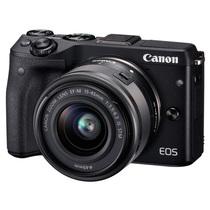 佳能 EOS M3(EF-M 15-45mm f/3.5-6.3 IS STM) 微型单电套机 黑色 轻便 小巧 广角产品图片主图