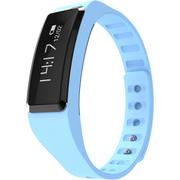 全程通 QCT-W2 智能手环 智能腕带 计步器 来电提醒 微信提示 触控屏幕 运动健康手环 蓝色