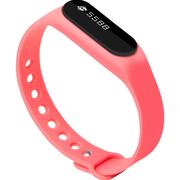 全程通 H5 智能手环 智能腕带 计步器 来电提醒 微信提示 触控屏幕 运动健康手环 粉色
