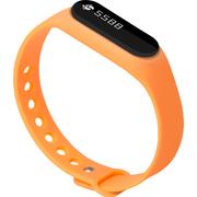 全程通 H5 智能手环 智能腕带 计步器 来电提醒 微信提示 触控屏幕 运动健康手环 橙色