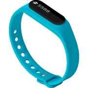全程通 H5 智能手环 智能腕带 计步器 来电提醒 微信提示 触控屏幕 运动健康手环 蓝色
