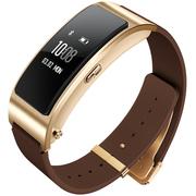 华为 手环B3   (蓝牙耳机与智能手环结合+金属机身+触控屏幕+真皮腕带) 商务版 摩卡棕