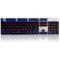 黑爵 机械战警 合金版幻彩机械游戏键盘 黑色青轴产品图片1