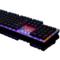 黑爵 机械战警 合金版幻彩机械游戏键盘 黑色青轴产品图片2
