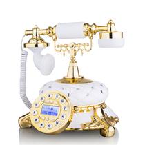 渴望(crave) F015/金色年华 仿古电话机 金色镶钻欧式电话机 时尚创意复古家用座机产品图片主图