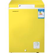 容声 BD/BC-100MS 100升 顶开门家用小冷柜 转换柜 亮黄色