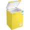 容声 BD/BC-100MS 100升 顶开门家用小冷柜 转换柜 亮黄色产品图片3